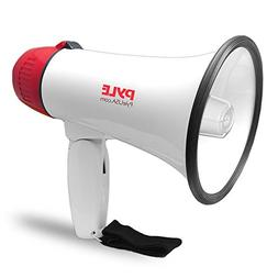Pyle Megaphone Speaker Lightweight Bullhorn - Built-in Siren
