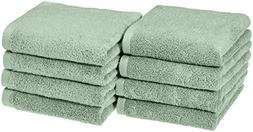 AmazonBasics Quick-Dry Hand Towels - 100% Cotton, 8-Pack, Se