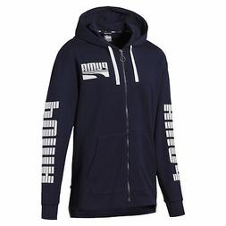 PUMA Rebel Bold Men's Full Zip Hoodie Men Sweat Basics