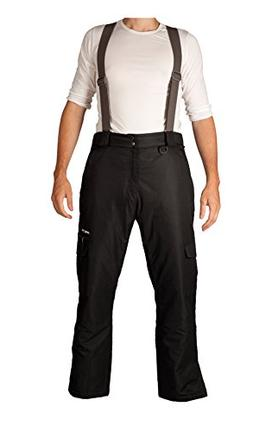 Arctix Men's Convertible Insulated Bib Pants, Large, Black
