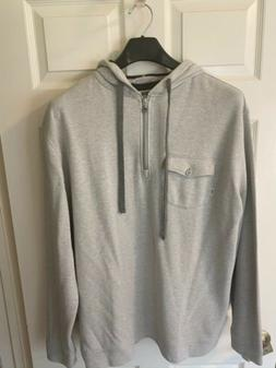 Linksoul Sable Half Zip Hoodie Natural Heather Gray XL