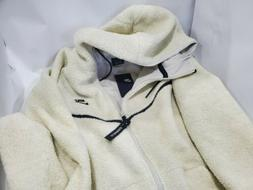 NIKE Sherpa Windrunner Men's Sz XXL Full-Zip Hoodie Natural