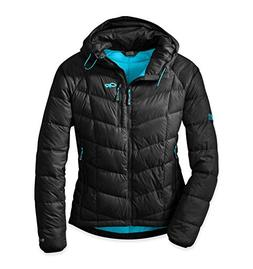Outdoor Research Sonata Down Hooded Jacket - Women's Black/R