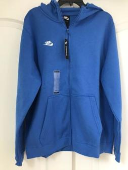 NIKE SPORTSWEAR FULL ZIP HOODIE BLUE 804389-403 MEN'S SIZE L
