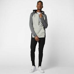 NIKE SPORTSWEAR TECH FLEECE HALF ZIP HOODIE BONE/BLK MEN'S S