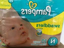12 packs of 20 Pampers Swaddlers Newborn 240 Diapers