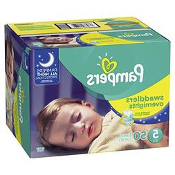 Pampers Swaddlers Overnights Disposable Diapers Size 5, 50 C