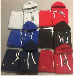 Polo Ralph Lauren Sweat Suit Complete Set Full Zip Hoodie Pa