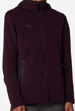 NIke Tech Full-Zip Hoodie Burgundy/Ash Men's Large AA3784-
