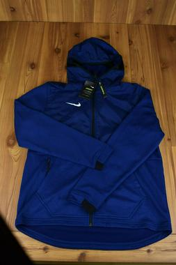 NIKE THERMA FULL ZIP BASKETBALL HOODIE NAVY BLUE 926465-492