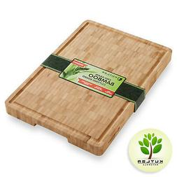 Thick End Grain Bamboo Cutting Board Kitchen Butcher Carving