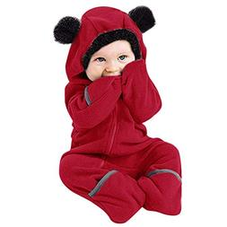 WUAI Baby Clothes Infant Toddler Baby Cartoon Ears Hoodie Ro