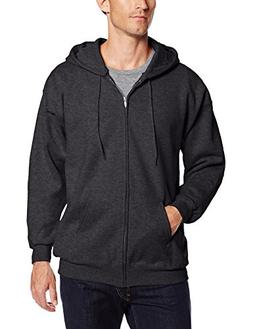 Hanes Men's Ultimate Cotton Heavyweight Full Zip Hoodie Char