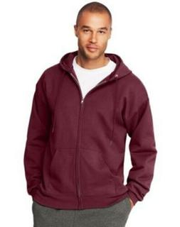 Hanes Men's Ultimate Cotton Heavyweight Full Zip Hoodie Maro