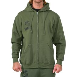 "USMC EG&A ""Repel"" Performance Zip Hoodie-OD Green"