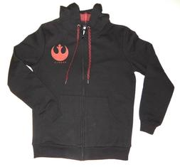 Star Wars Rebels Mens Full Zip Hoodie Sweatshirt Black Red P