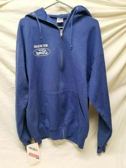 Vintage Jerzees Ford Full Zip Hoodie Size Large NWT made In