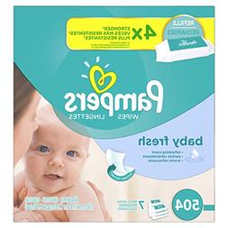Pampers Baby Fresh Water Baby Wipes 7X Refill Packs, 504 Cou