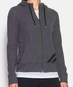 Under Armour Women's French Terry Full Zip Hoodie, Carbon He
