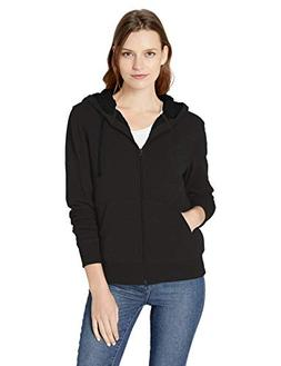 Amazon Essentials Women's Sherpa Lined Full-Zip Hoodie, Blac