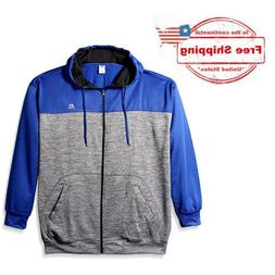 XL-Tall Russell Men's Big and Tall Full Zip Athletic Hoodie,