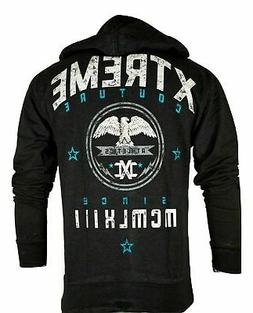 Xtreme Couture By AFFLICTION Sweat Shirt Jacket KNOCK OUT ZI