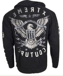 Xtreme Couture Men ZIP Hoodie Sweat Shirt Jacket BRAVENET ZI