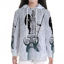 Young Boys Pullover Hoodies,Sculptures Decor,Statue of Athen