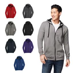 District Young Mens Fleece Full-Zip Hoodie Pocketed Hooded S