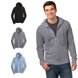 District Young Mens Jersey Full-Zip Up Hoodie Light Weight L