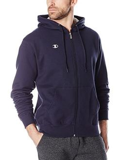 Champion Men's Full-zip Eco Fleece Jacket Hoodie, Navy, Medi