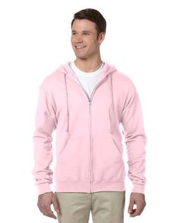 Jerzees 8 oz Zip Hooded Sweatshirt  Large Pink