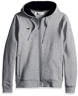 Lacoste Men's Full Zip Hoodie Fleece Sweatshirt, SH7609, Sil
