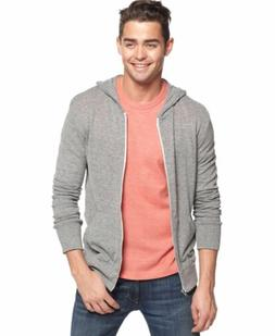Alternative Men's Eco Zip Hoodie Sweatshirt Shirt, Grey, Lar