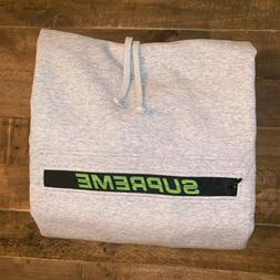 Supreme Zip Pouch Hoodie Grey SS19 Size: Large