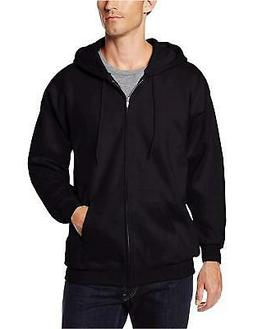 Hanes Men's Full Zip Ultimate Heavyweight Fleece Hoodie, Bla