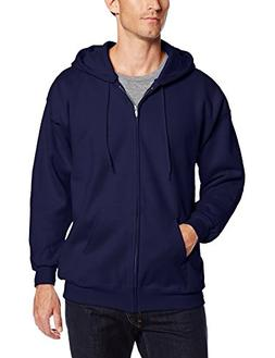 Hanes Men's Ultimate Cotton Heavyweight Full Zip Hoodie Navy